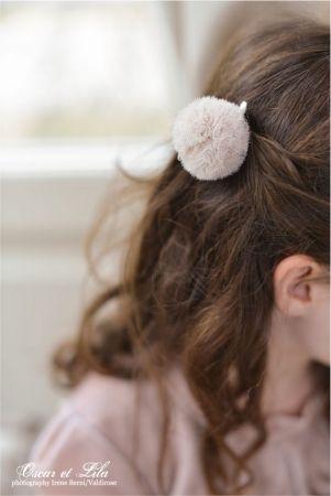 pompom hair clip pompon tulle