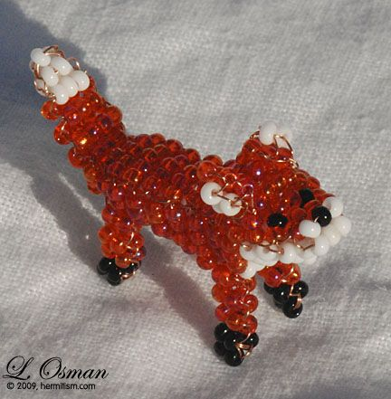 fox 3D  Free Beaded Jewelry Pattern Ideas | BEAD AND WIRE PATTERNS | Free Patterns
