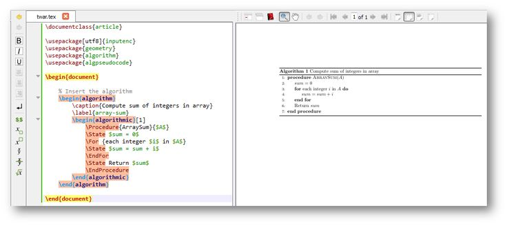 Generate Nice Pseudo code/Algorithm using LATEX editors Online Free Editor : ShareLateX Desktop Editor : TeXStudio Some more desktop based tools MiKTex Texmaker