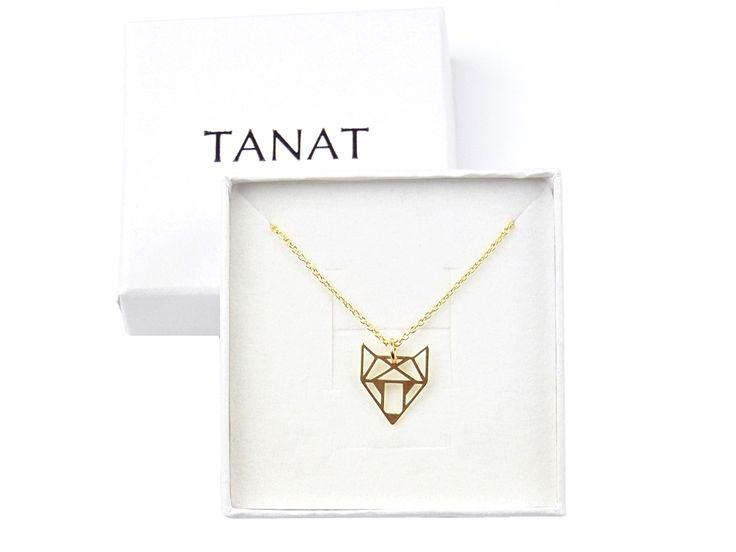 Gilded FOX ORIGAMI necklace. Pz naszyjnik origami lis: http://www.tanat.eu/naszyjniki/1940-pz-naszyjnik-origami-lis.html #fox #origami #gildednecklace #necklacefox