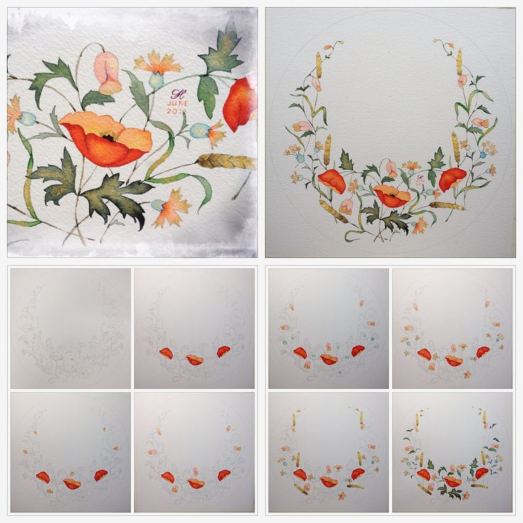 Step By Step Watercolor Picture