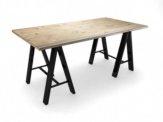 59 Best Sawhorse Table Images On Pinterest   Woodwork, Home And Architecture