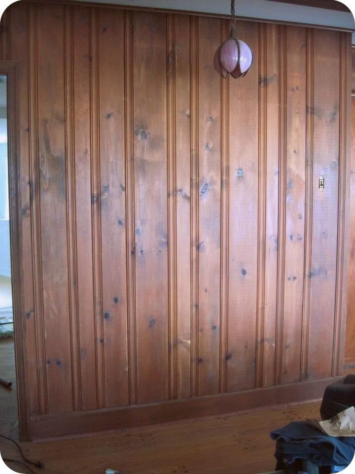Diy With My Guy Hall Wall Staining Old Paneling