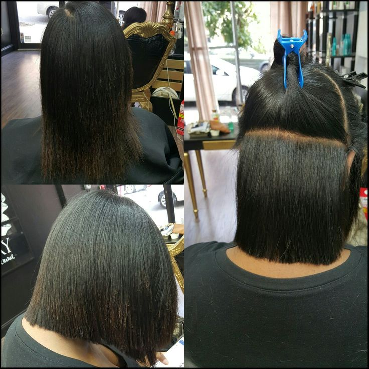 Precision Cut on Natural Hair with silk press                                                                                                                                                                                 More
