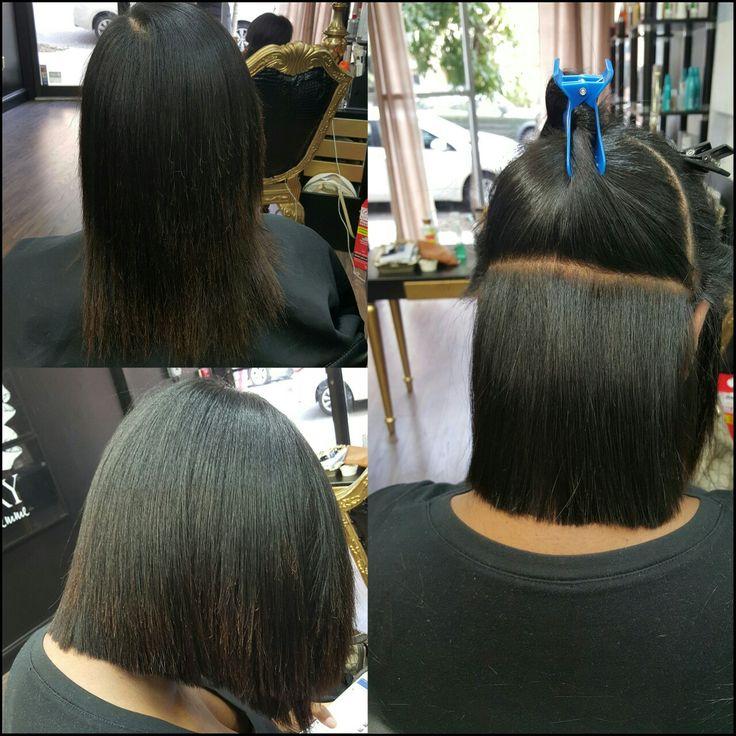 Precision Cut on Natural Hair with silk press