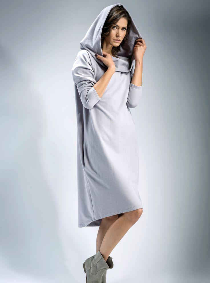 #Sukienka z kapturem #oversize.#kaptury #moda #fashion #dresses #trendsfashion
