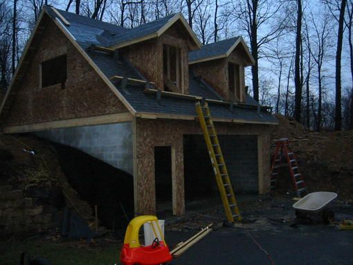 Build Into Hillsidecould Do Small Machines In Top And Cars On Bottom Garage Ideas In