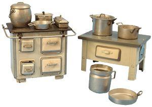 Cucina economica anni 40, italiana, cm. 15x22; cucina economica ...