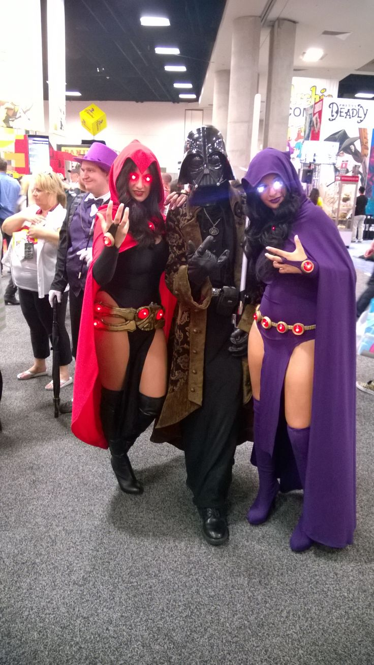 Darth Vader with two Anime? Girls SDCC 2014