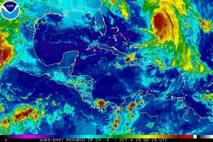 Current Caribbean Cruise Ship Weather Satellite. Cruise Ship Caribbean Port Forecasts