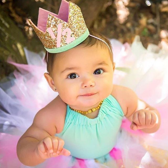 baby birthday crown | smash cake | half birthday hat | presh toast crowns etsy