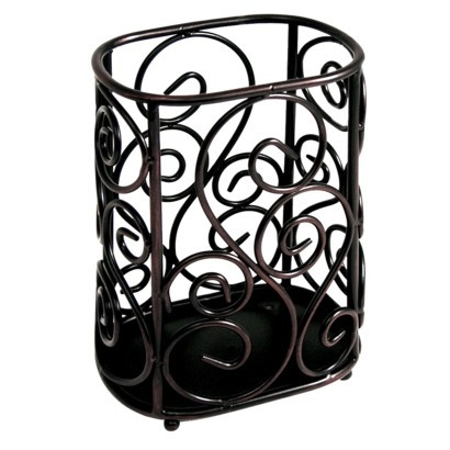 29 best images about bathroom ideas on pinterest wrought iron target and green leaves - Wrought iron silverware ...