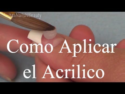 Uñas de acrilico para principiantes - beginner acrylic nails - YouTube