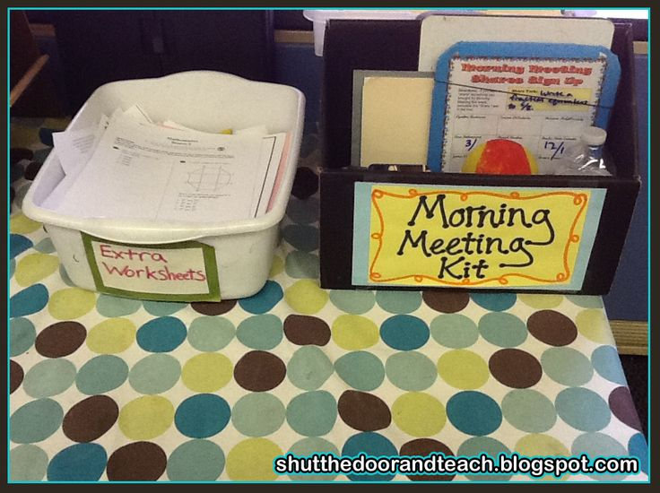 Shut the Door and Teach: Responsive Classroom: Morning Meeting Kit
