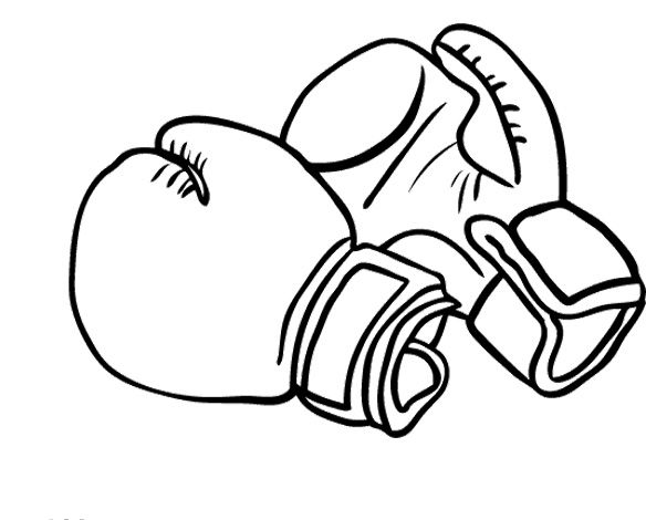 Printable Boxing Gloves Coloring Pages Boxing Day