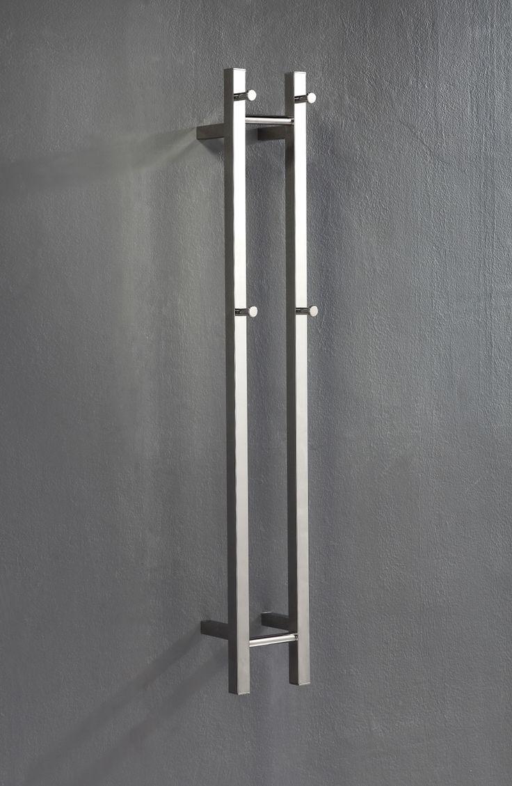 Vertical 2 Bar Heated Towel Rail - ABL Tile Centre