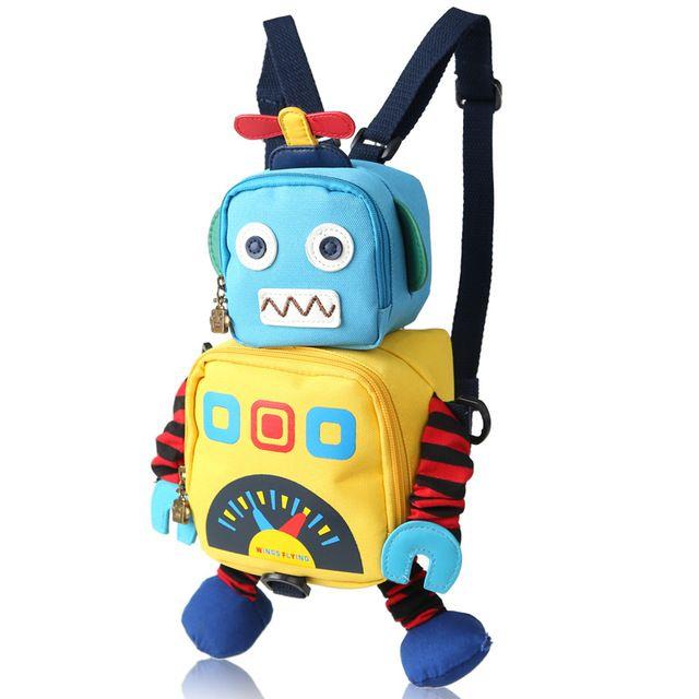 Speelgoed kid bag leuke robot rugzak voor kinderen anti-verloren kinderen kleuterschool schooltas afdrukken Animatie cartoon mooie baby tas