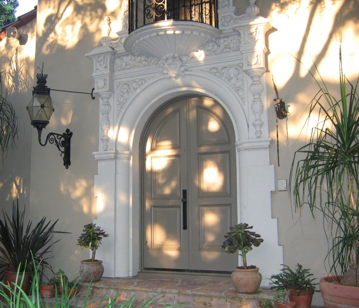 Entry to 1920's Spanish Revival Home in Southern California