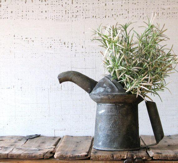 urban farmhouse decor | vintage oil can - urban farmhouse planter or decor/display
