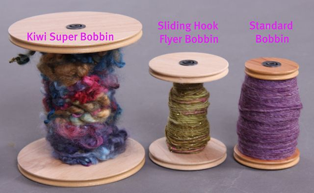 Ashford spinning wheel bobbins comparison