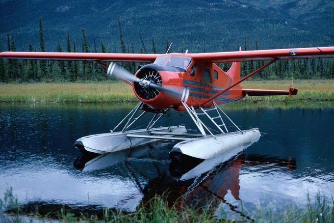 Alaska Image - Float plane landed on lake, Alaska - Lonely Planet
