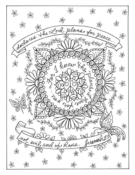 5 Pages of Prayer Mandalas to Color