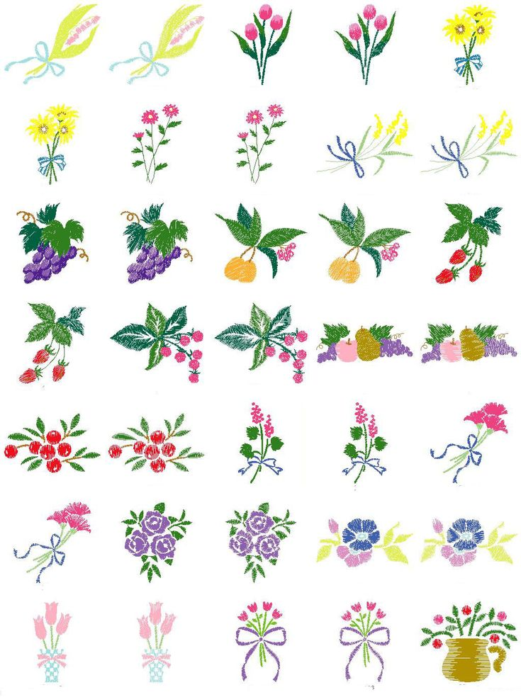 Free embroidery designs download floral fruit brother