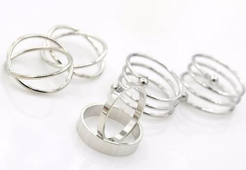 6 piece set Gold /Silver Stackable Knuckle Midi Rings For Women