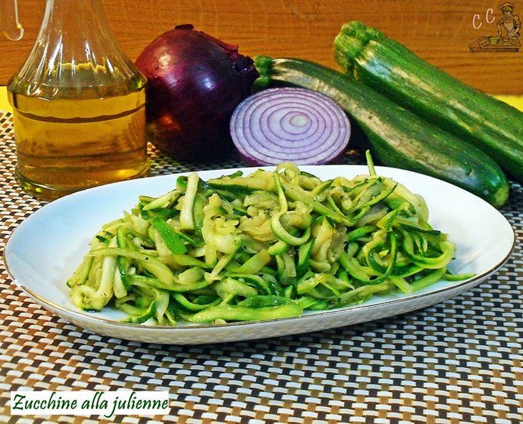 Zucchine a julienne in padella ricetta facile veloce economica da preparare da…