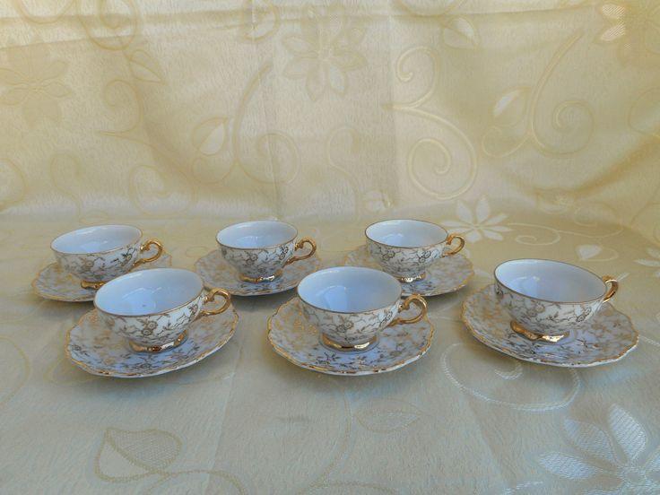 6 STUPENDE TAZZINE DA CAFFE' IN PORCELLANA S.WEIDEN BAVARIA SERIE THERESIA in Arte e antiquariato, Porcellana e ceramica, Servizi da tè e caffè | eBay