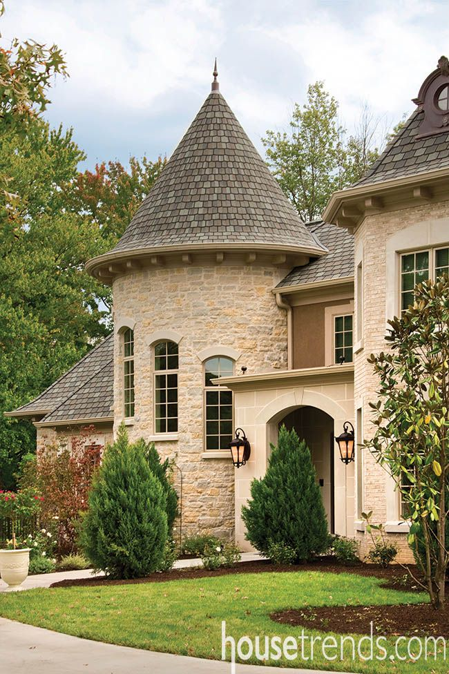 French Country Home Interior Design: House Windows Give Off Regal Feel