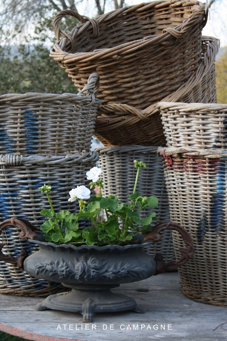 French baskets.....even somethhing as mundane as baskets can ooze charm in this wonderful place