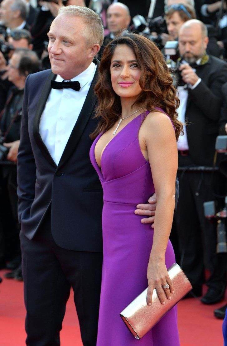 Pin for Later: All the Gorgeous Stars at the Cannes Film Festival Francois-Henri Pinault and Salma Hayek