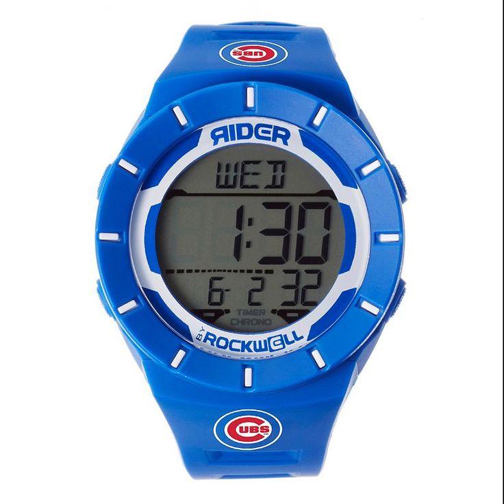Men's Rockwell Chicago Cubs Coliseum Digital Watch, Blue