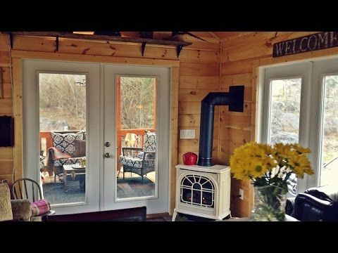 Tiny Cabin With Big Living Loft Above For Sale - YouTube