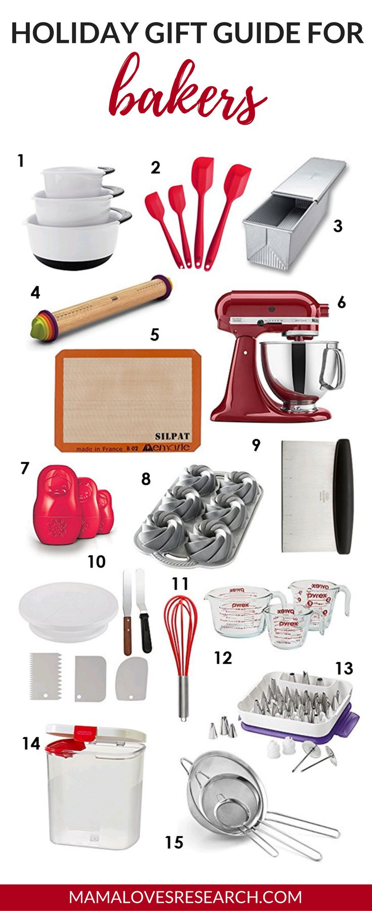 Holiday Gift Guide for Bakers - Mama Loves Research