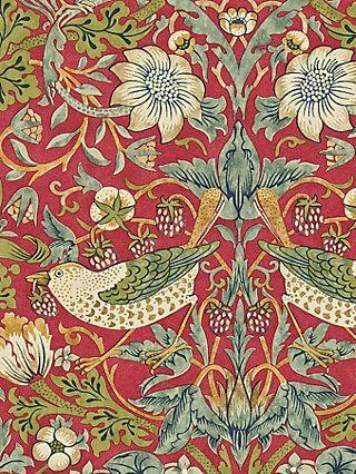 Morris Co Strawberry Thief Wallpaper 212563 In 2020 Wallpaper Colorful Decor William Morris
