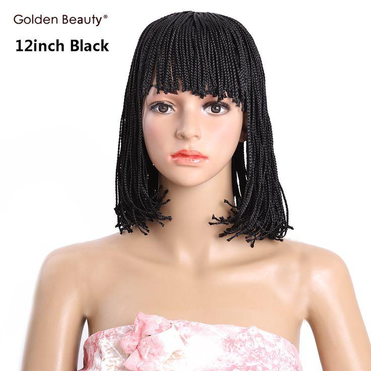 12inch box braid wig