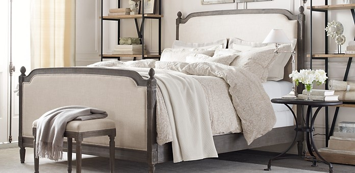 Vienne bed without footboard restoration hardware for Restoration hardware bedside tables