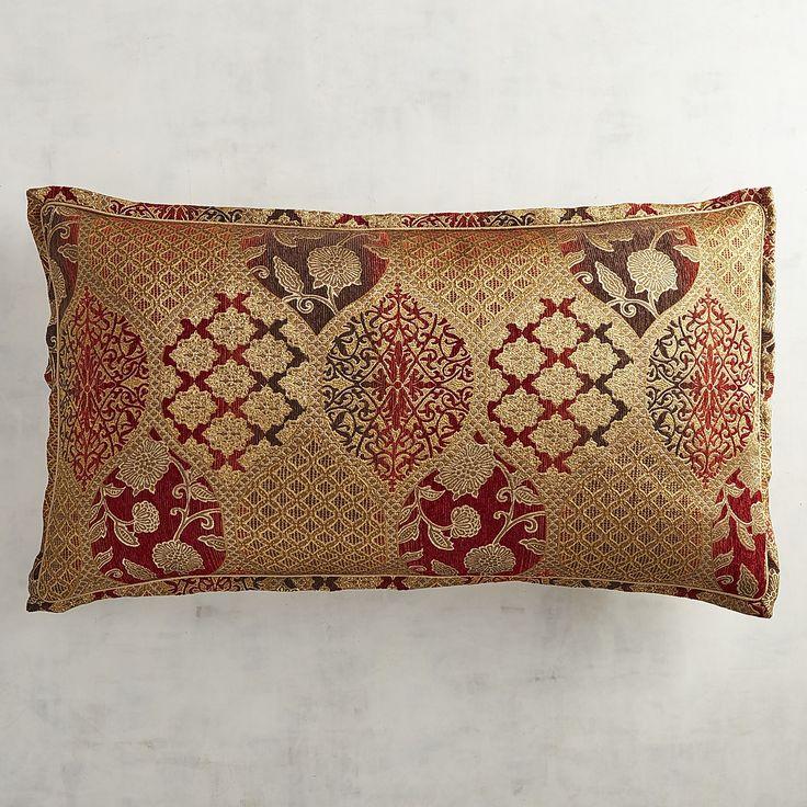 Pandora Red Jacquard King Pillow Sham