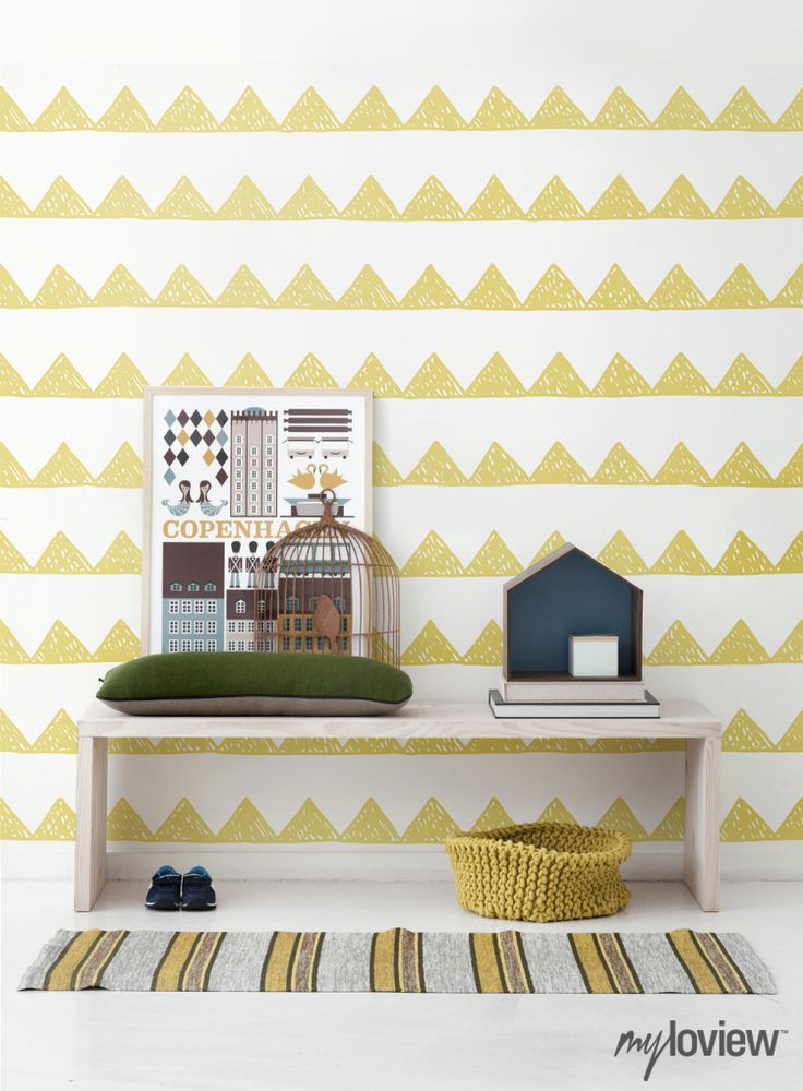 Scandinavian Style Child's Room | Home Adore - love the wall