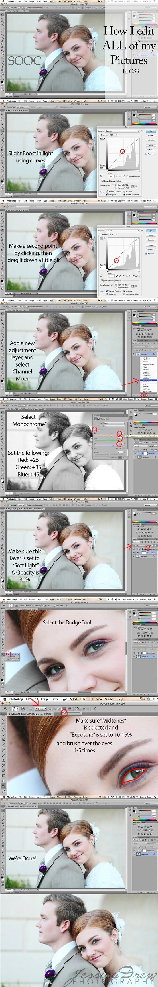Basic Photoshop CS6 Edit - Click image to find more Photography Pinterest pins