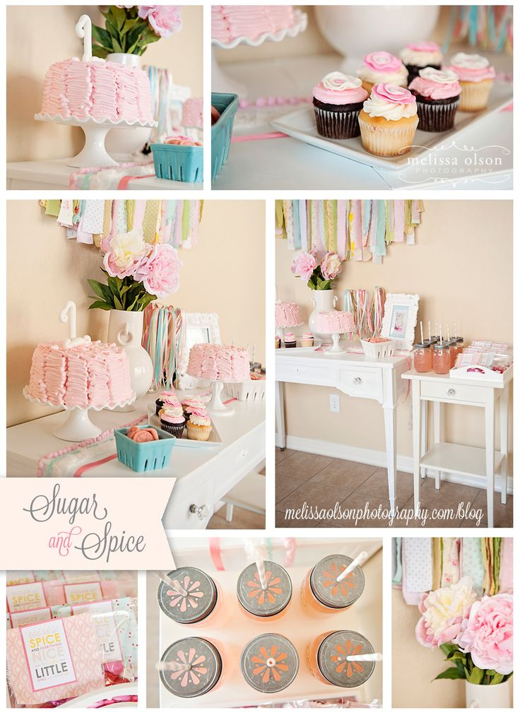 Vintage Sugar & Spice birthday party with so many darling ideas! Via Kara's Party Ideas KarasPartyIdeas.com #vintage #sugar #spice #party #ideas #ruffle #cake #idea