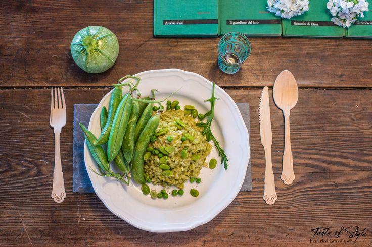 Riso green con fave e piselli - Taste of Style