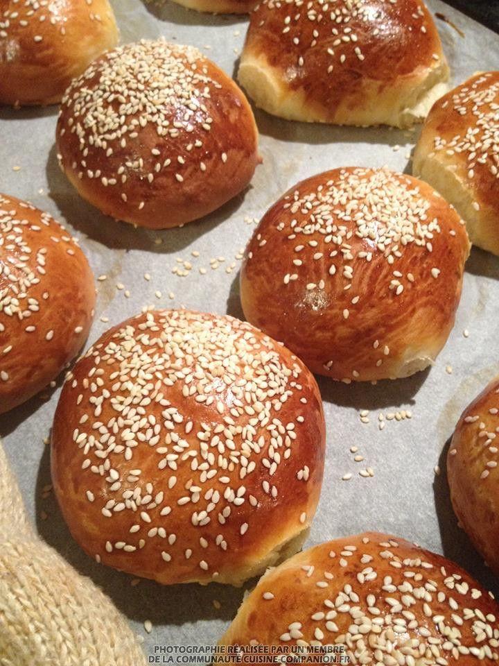 Pains à burger Thermomix adapté au Companion (Vir Ginie) - Recette Cuisine Companion