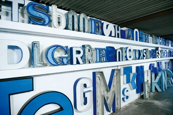 Berlin's Buchstabenmuseum is a must-see for type fans, with neon and display lettering rescued from old buildings and shop fronts