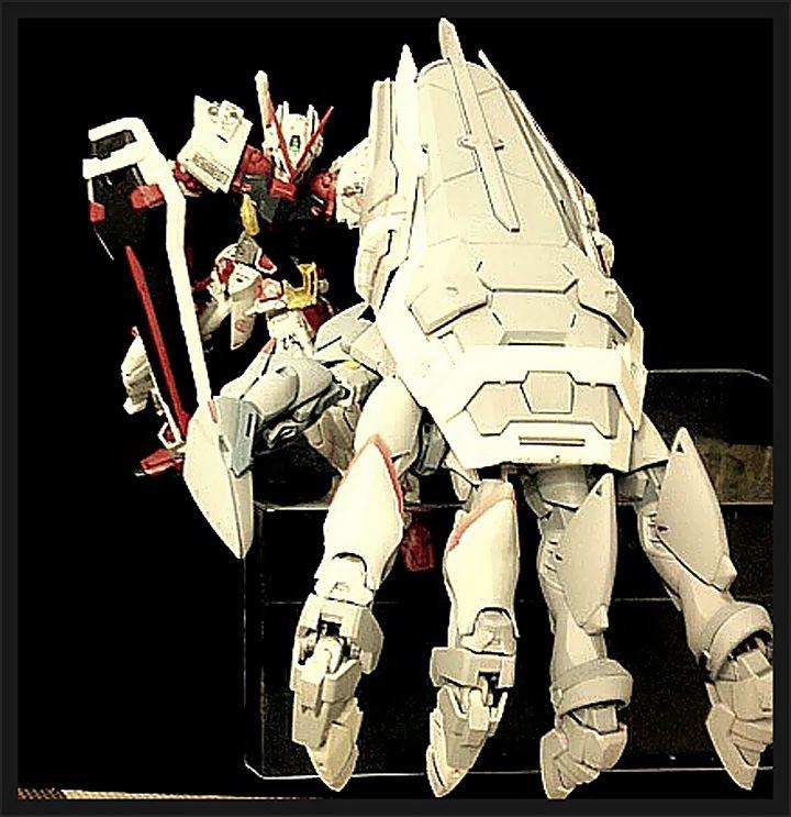GUNDAM GUY: Gundam Astray Red Frame w/ Gunpla Kit Bash Power Hand - Custom Build