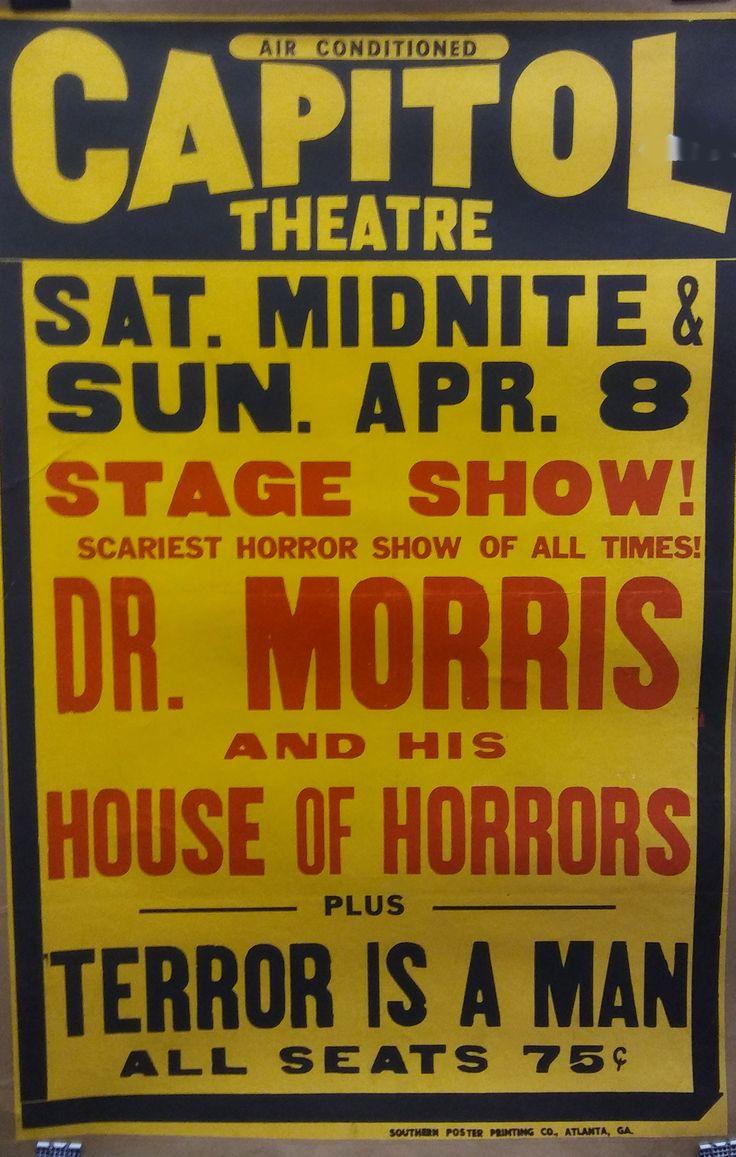 Dr Morris [Phil Morris] 1 sheet House of Horrors spook show poster