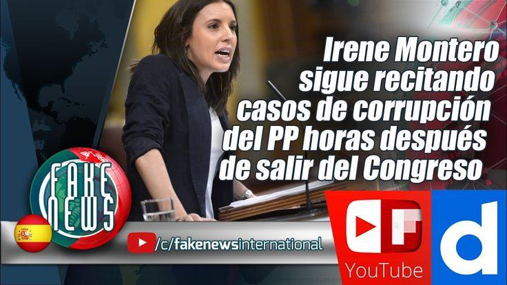 Irene Montero sigue recitando casos de corrupción del PP horas después d...