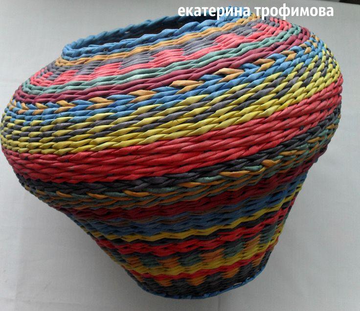 бумага плетение горшок вазон